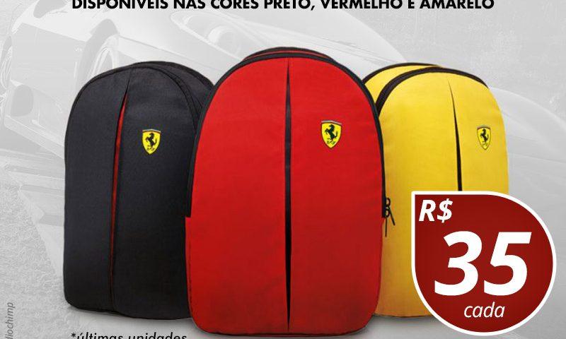PROMOÇÃO: Mochilas Ferrari! 2