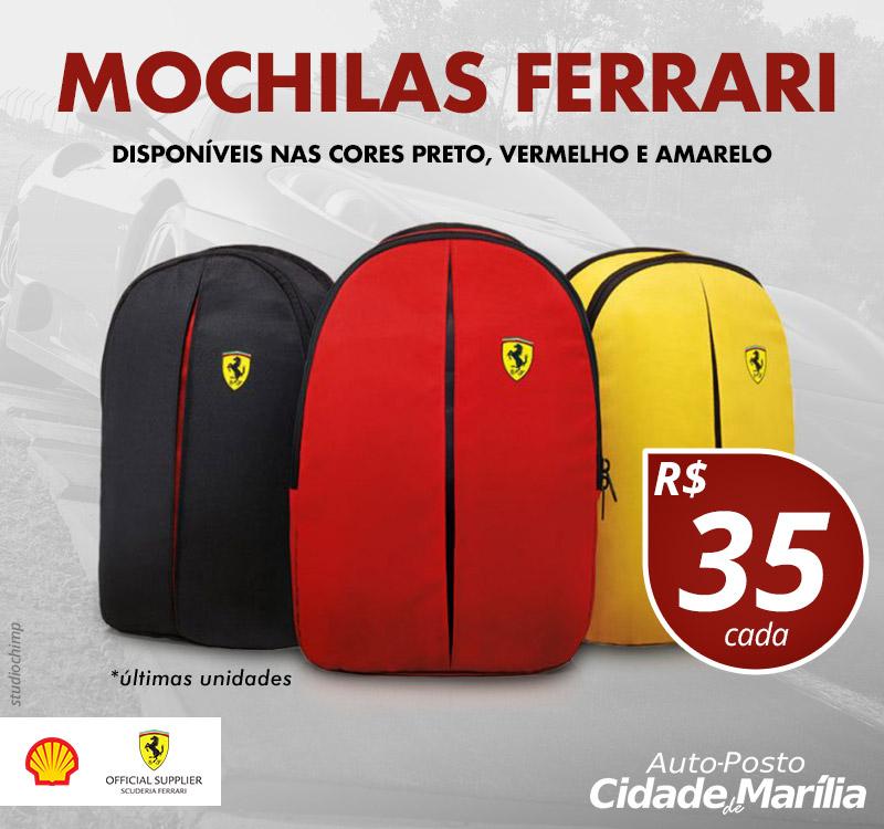 PROMOÇÃO: Mochilas Ferrari! 3