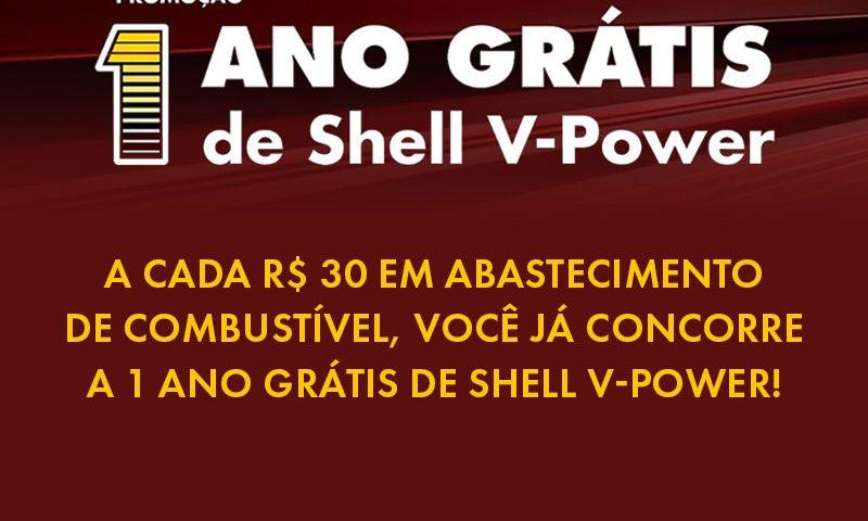 Promoção 1 Ano Grátis de Shell V-Power 2