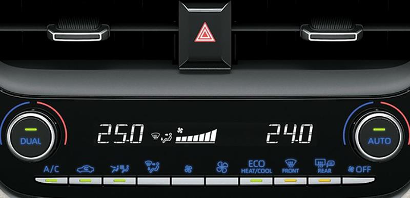 Ar condicionado Dual Zone Corolla