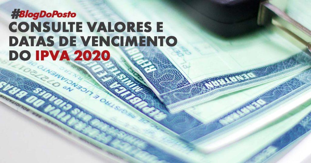 Valor do IPVA 2020