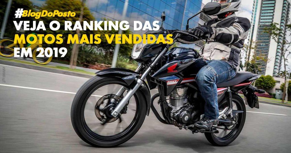 Ranking de motos mais vendidas 2019